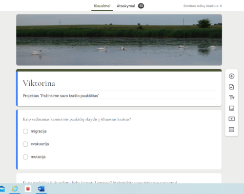 """Projekto """"Pažinkime savo krašto paukščius"""" įgyvendinimas (1)"""